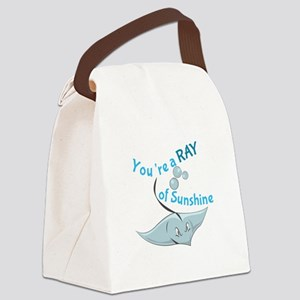 You're A Ray Of Sunshine Canvas Lunch Bag
