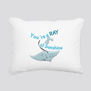You're A Ray Of Sunshine Rectangular Canvas Pillow