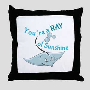 You're A Ray Of Sunshine Throw Pillow