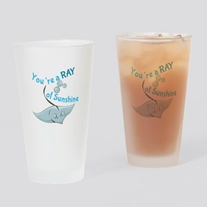 You're A Ray Of Sunshine Drinking Glass