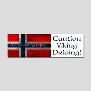 Grunge Norwegian Flag Car Magnet 10 x 3