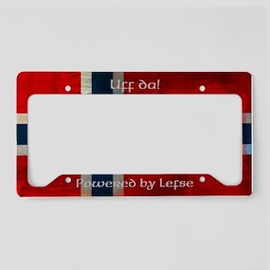 Grunge Norwegian Flag License Plate Holder