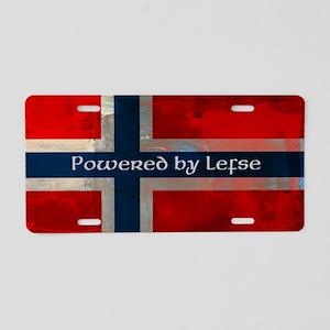 Grunge Norwegian Flag Aluminum License Plate