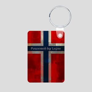 Grunge Norwegian Flag Keychains