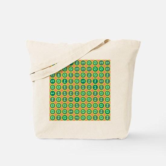 Bits pattern Tote Bag
