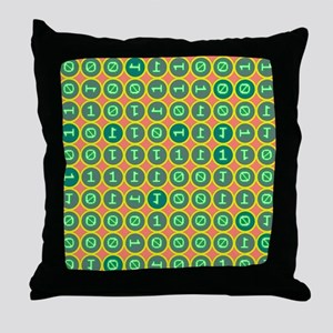 Bits pattern Throw Pillow