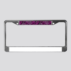 Charming shiny chains purple p License Plate Frame