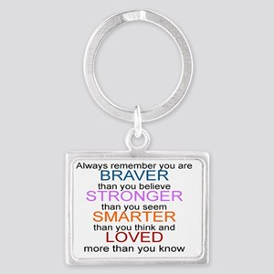 ALWAYS REMEMBER, YOU ARE BRAVER Landscape Keychain