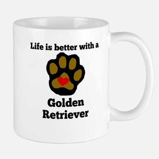 Life Is Better With A Golden Retriever Mugs