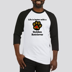 Life Is Better With A Golden Retriever Baseball Je