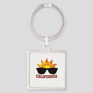 red cali shades Keychains