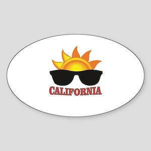 red cali shades Sticker
