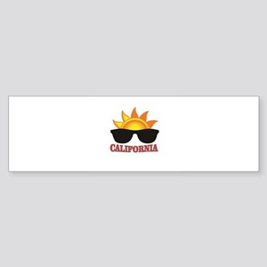 red cali shades Bumper Sticker