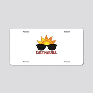 red cali shades Aluminum License Plate
