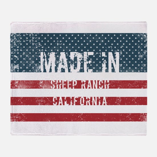 Made in Sheep Ranch, California Throw Blanket