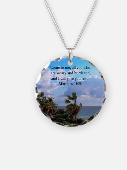 MATTHEW 11:28 Necklace