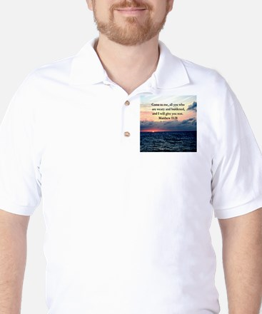 MATTHEW 11:28 Golf Shirt