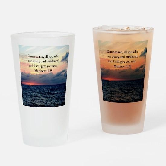 MATTHEW 11:28 Drinking Glass