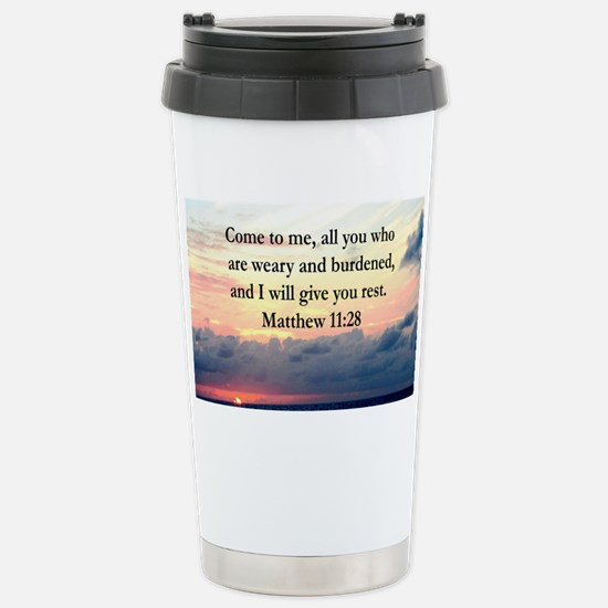 MATTHEW 11:28 Stainless Steel Travel Mug