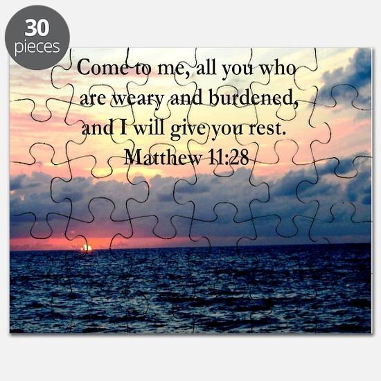MATTHEW 11:28 Puzzle