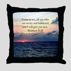 MATTHEW 11:28 Throw Pillow