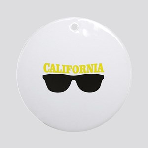 yellow cali shades Round Ornament