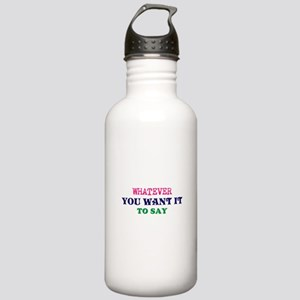 Multi-Color/Font Make Stainless Water Bottle 1.0L