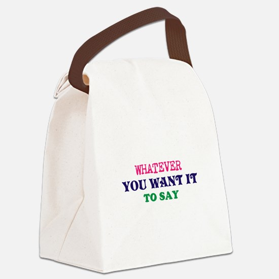 Multi-Color/Font Make Your Own Sa Canvas Lunch Bag