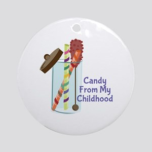 Candy From Childhood Ornament (Round)