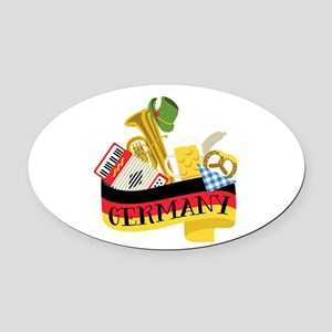 Germany Oval Car Magnet