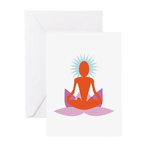 Mens yoga greeting cards cafepress m4hsunfo