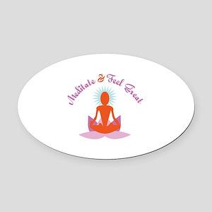 Meditate Oval Car Magnet