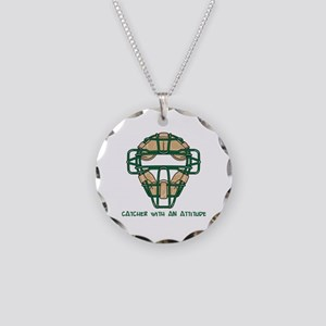 Catcher with an Attitude Necklace Circle Charm