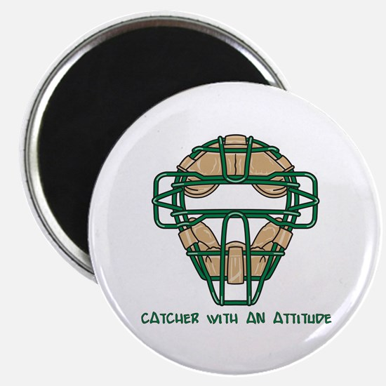 "Catcher with an Attitude 2.25"" Magnet (100 pack)"