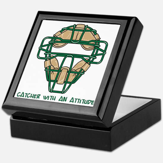 Catcher with an Attitude Keepsake Box