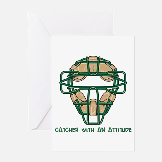 Catcher with an Attitude Greeting Card
