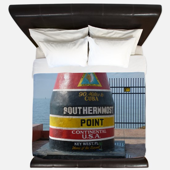 Southernmost point U.S.A. King Duvet