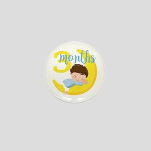 3 Months Baby Boy Monthly Milestone Mini Button