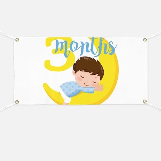 3 Months Baby Boy Monthly Milestone Banner