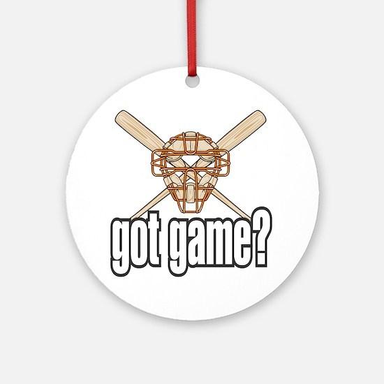 Baseball Got Game? Ornament (Round)