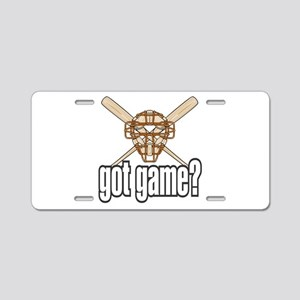 Baseball Got Game? Aluminum License Plate