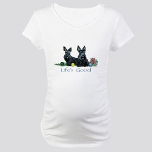 Life is Good - Scotties Maternity T-Shirt