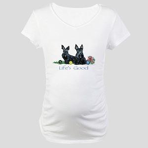 Life is Good - Scotties Maternity T-Shirt