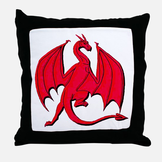 Red Sky Lord Throw Pillow