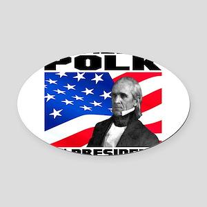 11 Polk Oval Car Magnet