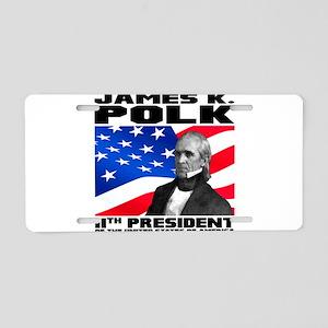 11 Polk Aluminum License Plate