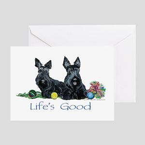 Life is Good - Scotties Greeting Card