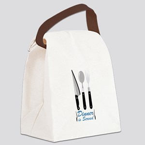 Dinner Is Served Canvas Lunch Bag