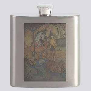 Vintage Dragon by Bosschere Flask