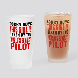 Taken By The Worlds Sexiest Pilot Drinking Glass